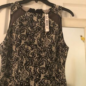 ALICE AND OLIVIA SILVER AND BLACK DRESS